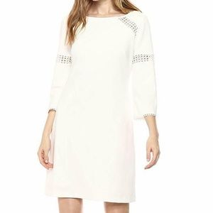 Adrianna Papell Women's Knit Crepe Lace Trimmed Sh